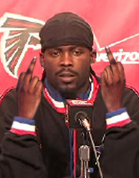 Michael Vick says hi